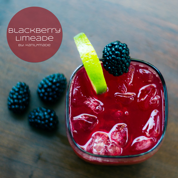 Blackberry Limeade recipe | katili*made | http://katilimade.com