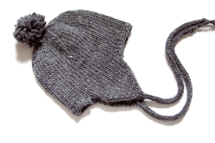 Gray Earflap hat