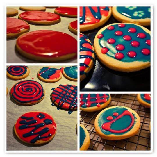 Neon 80's cookies
