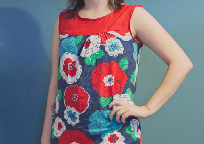 Ruby Dress: Hawaiian Flowers