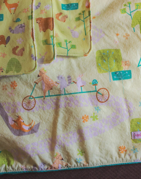 Woodlands Baby Blanket and Burp Cloths