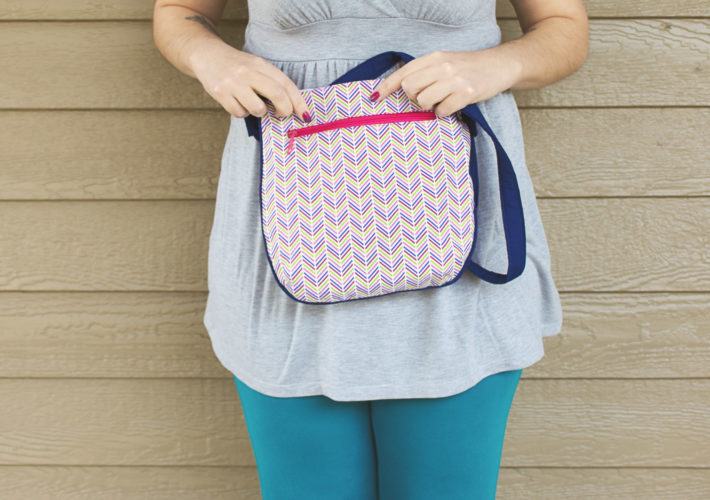 Blue and Pink Trail Tote