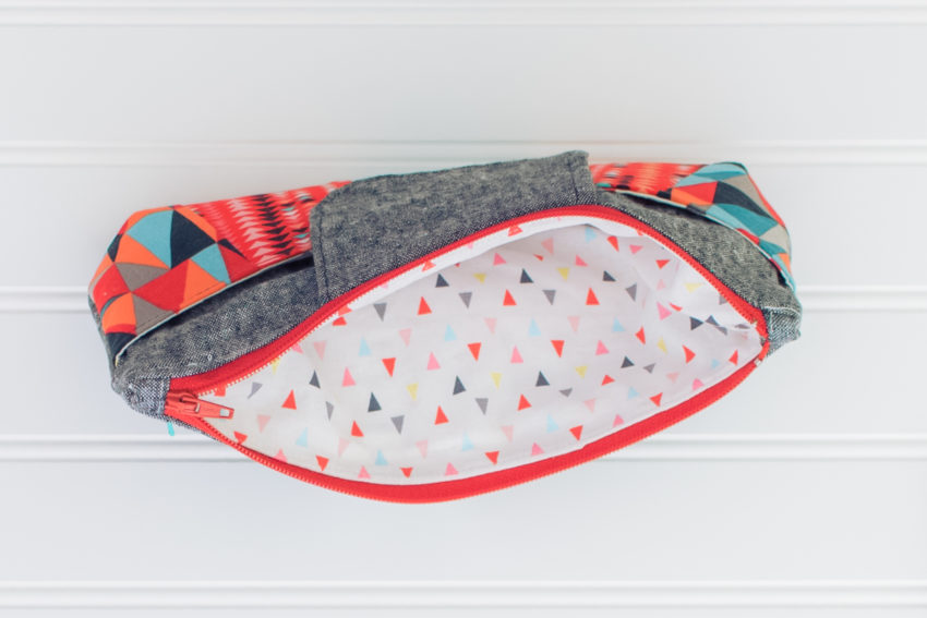 Red and Teal Rainbow Clutch | katili*made | https://www.katilimade.com